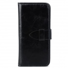 Stylish Protective PU Leather + Plastic Case for Iphone 5 / 5s - Black
