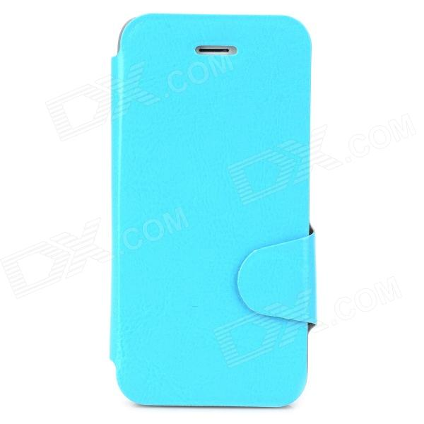 Protective PU Leather + Plastic Case w/ Card Holder Slot for Iphone 5 / 5s - Blue owl pattern protective pu leather plastic case w stand for iphone 5 5s blue black