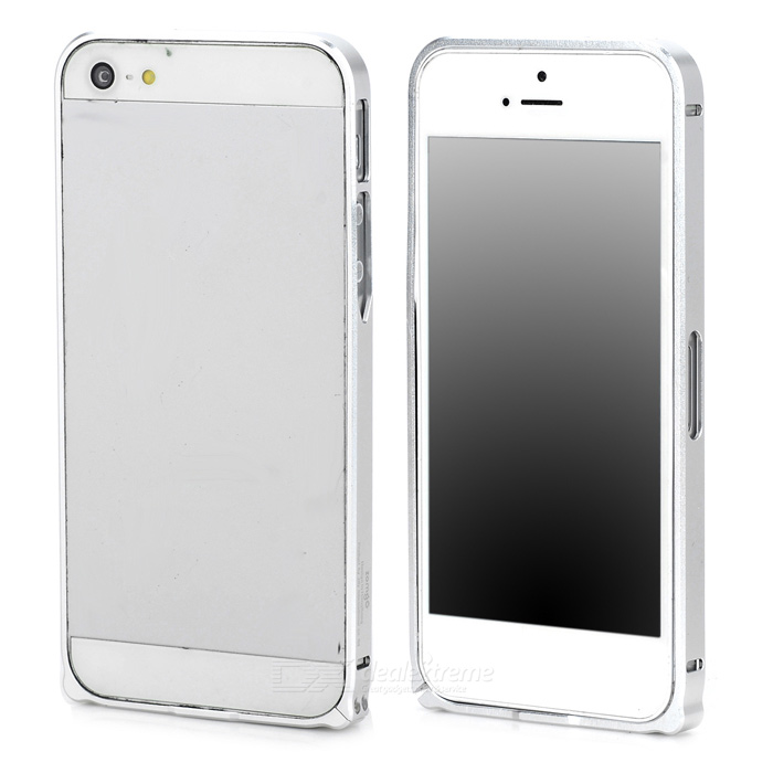 Durable Super Thin Aluminum Alloy Bumper Frame Case for Iphone 5 / 5s - Silver durable super thin aluminum alloy bumper frame case for iphone 5 5s black