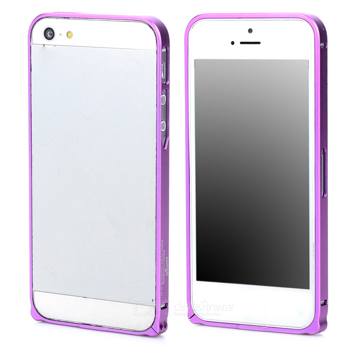 Durable Super Thin Aluminum Alloy Bumper Frame Case for Iphone 5 / 5s - Purple durable super thin aluminum alloy bumper frame case for iphone 5 5s black
