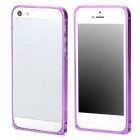 Durable Super Thin Aluminum Alloy Bumper Frame Case for Iphone 5 / 5s - Purple