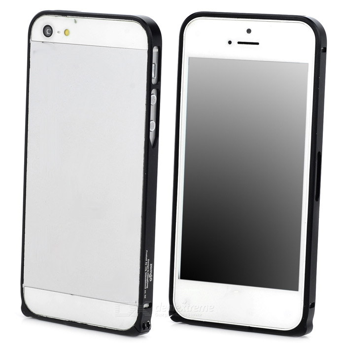 Durable Super Thin Aluminum Alloy Bumper Frame Case for Iphone 5 / 5s - Black durable super thin aluminum alloy bumper frame case for iphone 5 5s black