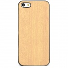 Stylish Protective Plastic Back Case for iPhone 5 / 5s - Wood Color