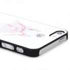 Fashionable Woman's Back Pattern Matte Plastic Back Case for Iphone 5 / 5s - White + Pink