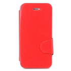 Protective PU Leather + Plastic Case w/ Card Holder Slot for Iphone 5 / 5s - Red