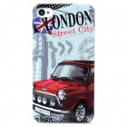 London Street Style Protective Plastic Back Case for Iphone 4 / 4S - Red