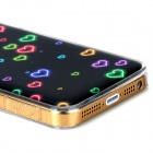 Love Heart Pattern Protective Epoxy Back Case for Iphone 5 / 5s - Black