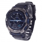 OHSEN AD1308 Men's Sport Analog + Digital Quartz Wrist Watch - Black + Purple (1 x CR-2025)