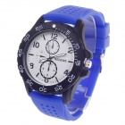REDEWE RDW-009 Fashionable Men's Quartz Wrist Watch w/ Rubber Wristband - Blue (1 x LR626)