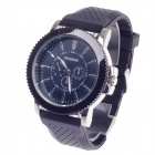 REDEWE RDW-007 Fashionable Men's Quartz Wrist Watch w/ Rubber Wristband - Black (1 x LR626)