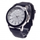 REDEWE RDW-007 Fashionable Men's Quartz Wrist Watch w/ Rubber Wristband - Black + White (1 x LR626)