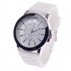 REDEWE RDW-007 Fashionable Men's Quartz Wrist Watch w/ Rubber Wristband - White (1 x LR626)
