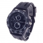 REDEWE RDW-009 Fashionable Men's Quartz Wrist Watch w/ Rubber Wristband - Black (1 x LR626)