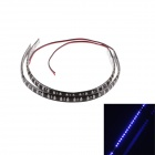 KWB-B 32-3528 SMD 320lm Blue Light LED Decoration Scanning Strip  - Black (2 PCS / 30cm)