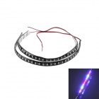 KWB-RGB 32-3528 SMD 320lm RGB Light LED Decoration Scanning Light Strip - Black (2 PCS / 30cm)