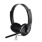 MS-310 3.5mm Stereo Computer Adjustable Headphone w/ Microphone - Black