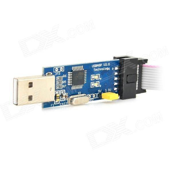 USBASP USBISP Downloader Programmer for 51 AVR - Blue + Black