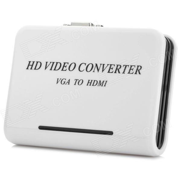 1080P VGA to HDMI High Definition AV Converter w/ Audio-In - White + Black (EU Plug)AV Adapters And Converters<br>MaterialABSForm  ColorWhiteConnectorHDMI,VGA,VGAPower AdapterEU PlugPower SupplyEUOther FeaturesThisPacking List1 x Converter 1 x English user manual 1 x EU plug power cable (100~240V / 112cm)<br>