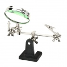 2.5X Soldering Auxiliary Magnifier - Silver + Black