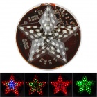 Five-Pointed Star Style Waterproof 12W 120lm 54-SMD 3528 LED RGB Car Decoration Light (12V)