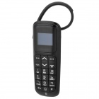 "MN-01 0.8"" LCD Bluetooth v2.0 Headset Dialer w/ Microphone for Iphone / Samsung - Black"