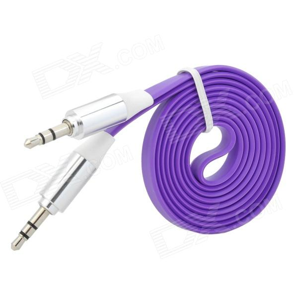 3.5mm Male to Male Flat Audio Cable - Purple