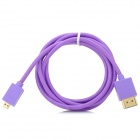 HDMI Male to Micro HDMI Male Connection Cable - Purple (145cm)