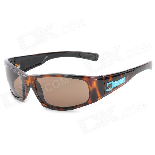 Outdoor Sports UV400 Protection Resin Lens Sunglasses - Brown + Black resin sunglasses with uv400 uv protection