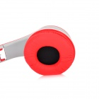 SOUND INTONE I50 Foldable Headband 3.5mm Plug Stereo Headphone w/ Microphone - Red + Grey + White