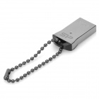 SP T01 Water Resistant USB 2.0 Flash Drive w/ Chain - Silver + Black (32GB)