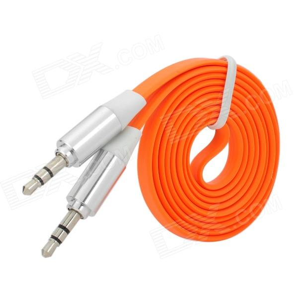 3.5mm Male to Male Audio Connection Flat Cable - Orange (1m)