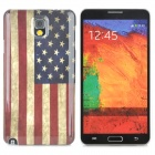 US Flag Pattern Protective Plastic Back Case for Samsung Galaxy Note 3 N9000 / N9005 - Red + Blue