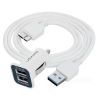 USB 3.0 to Micro-B Data Charging Cable + Dual-USB Car Charger Adapter for Samsung Galaxy Note 3