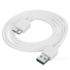 Micro-B Data Charging Cable + Car Charger for Samsung Note 3 - White