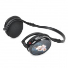 TX-Q9 3D Beauty Pattern USB Powered Over-head MP3 Headphone w/ TF / FM Radio - Black