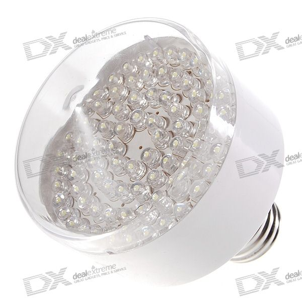 все цены на E27 80-LED 450-Lumen 6000K LED Light Bulb - White (180V~240V AC) онлайн