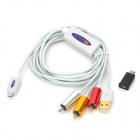 MHL to AV Composite Video Adapter Cable for Samsung + More - White (150 cm)