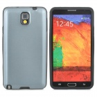 Protective Silicone Aluminium Back Case for Samsung Galaxy Note 3 - Black + Grey