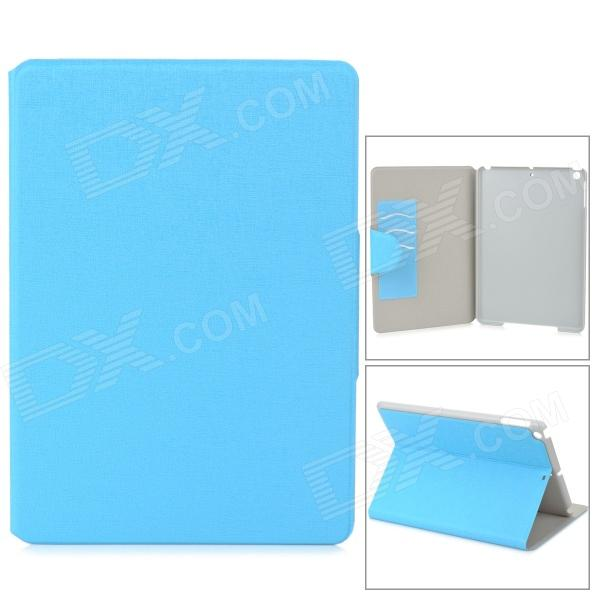 Stylish Oracle Style Protective PU Leather + Plastic Case for Ipad AIR - Blue onda v919 air v919 air ch v919 air 3g protective leather case blue