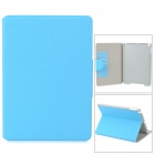 Stylish Oracle Style Protective PU Leather + Plastic Case for Ipad AIR - Blue