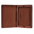 Virar Protective Case Open PU de couro para Ipad AIR / Ipad 5 - Brown
