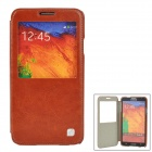 HOCO HS-L069 Retro Style Flip-Open Nano PU Case for Samsung Galaxy Note 3 - Brown