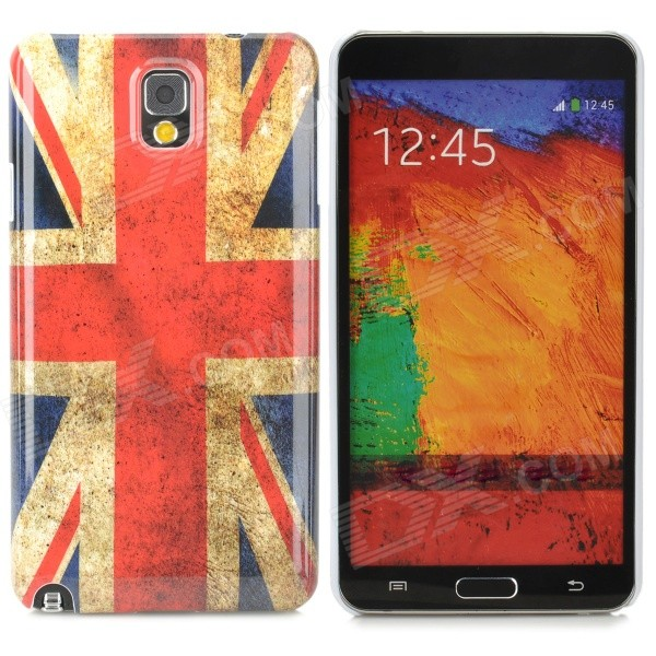 UK National Flag Pattern Protective Plastic Case for Samsung Galaxy Note 3 N9000 / N9005 protective germany national flag pattern case for samsung galaxy s4 i9500 black red yellow
