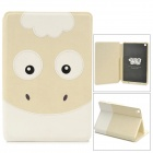 Kadingqi Cute Sheep Style Protective PU Leather + Plastic Case for Ipad MINI - Beige + White