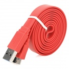 Micro-B USB 3.0 Data Charging Flat Cable for Samsung Note 3 / N9000 - Red (1m)