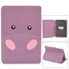 Kadingqi Cartoon Elephant Style Protective PU Leather + Plastic Case for Ipad MINI - Purple
