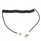USB 2.0 to Micro USB Data/Charging Coiled Cable for Samsung i9300 / i9100 / i9000 - Black + White