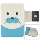 Kadingqi Cute Seal Phoca Vitulina Style Protective PU Leather Case for Ipad MINI - Blue + White