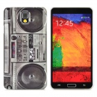 Retro Radio Style Protective Plastic Back Case for Samsung Galaxy Note 3 N9000 - Black + Grey