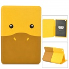 Kadingqi Cute Cartoon Duck Style Protective PU Leather + Plastic Case for Ipad MINI - Yellow + Brown